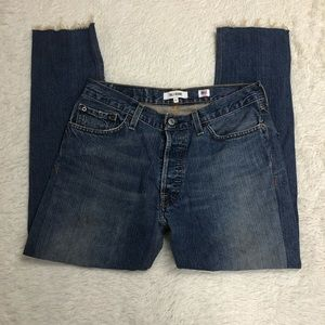 Levis Re/Done Relaxed Cropped Jeans Sz 26